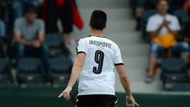 Above: Arnel Jakupovic celebrating his first-half goal in Austria's 1-1 draw with Portugal | Photo: Panoramic