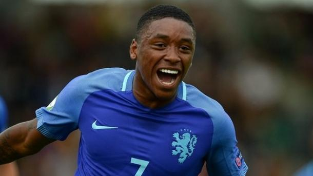 Above: Steven Bergwijn celebrating his first-half goal in the Netherlands 3-1 win over Croatia | Photo: Panoramic