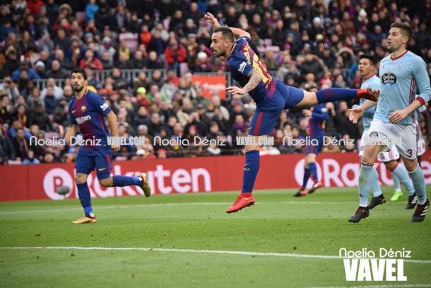 Paco Alcácer y Luis Suárez han coincidido sobre el terreno de juego en seis partidos | Foto: Noelia Déniz - VAVEL