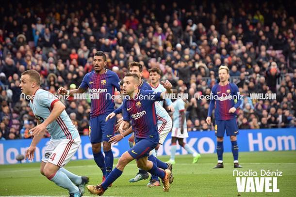 El FC Barcelona no pudo ganar al Celta de Vigo y cedió los primeros puntos en el Camp Nou | Foto: Noelia Déniz - VAVEL