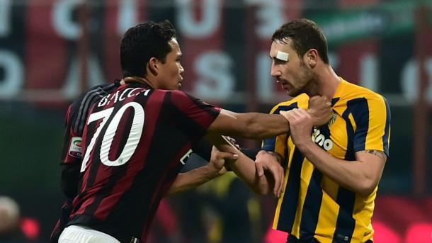 Tensión durante el último encuentro entre ambos equipos | Foto: AC Milan