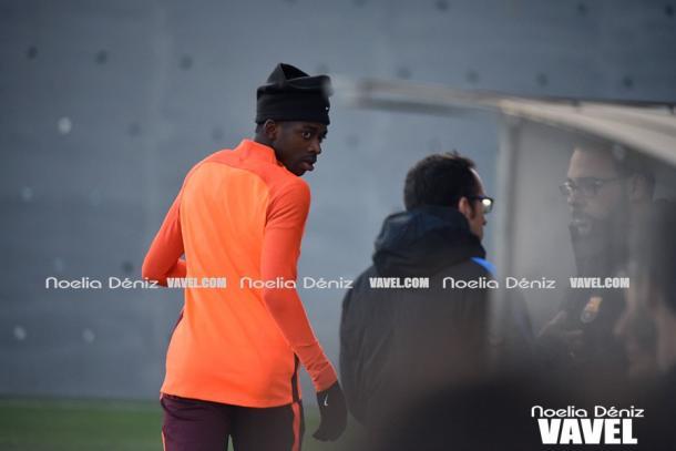 El francés Dembélé entró en diciembre en la dinámica de grupo del equipo y su regreso está cerca   Foto: Noelia Déniz - VAVEL