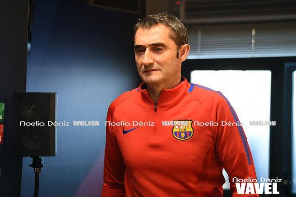 Ernesto Valverde atendió a los medios de comunicación este sábado en la previa del partido frente al Villarrreal | Foto: Noelia Déniz - VAVEL
