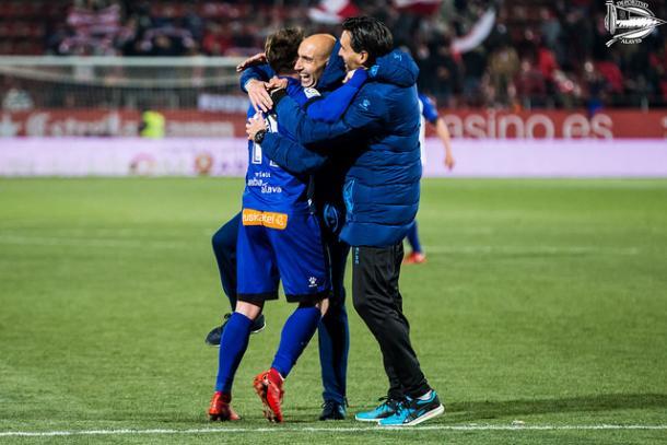 Abelardo durante el partido ante el Girona / Fuente: D. Alavés