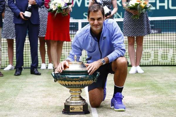Roger Federer will look to add to his nine Halle titles this week. Photo: Joachim Sielski/Bongarts
