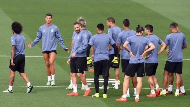 Ronaldo e soci durante l'allenamento di ieri. Fonte foto: it.uefa.com