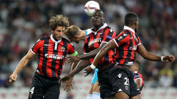 Balotelli was a peripheral figure in the first half. | Photo: UEFA