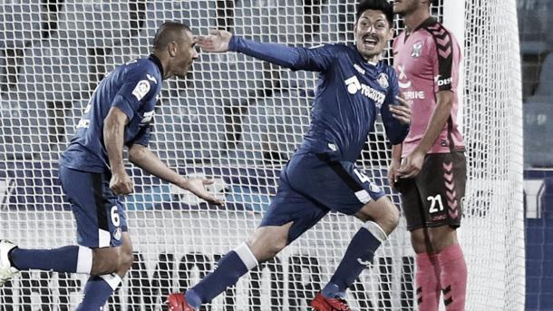 Con los 'Azulones' del Getafe | Foto: futbol.as.com