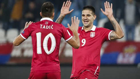 Tadic is by far Serbia's best player at the moment. Photo: Getty.
