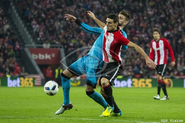 El Athletic no consiguió dar la vuelta a su eliminatoria ante el Barça | Foto: UGS Visión.
