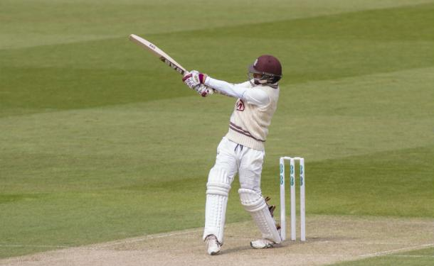 Harinath in action during his innings of 96 against Durham | Photo: Getty Images