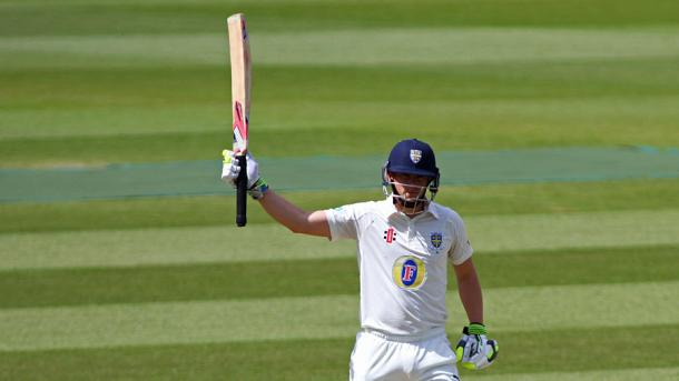 Borthwick celebrates his second century of the game for Durham | Photo: Getty