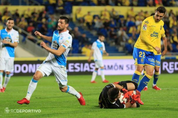Siete partidos, y dos goles, son los números de Borja Valle esta temporada. / Imagen: RCDeportivo