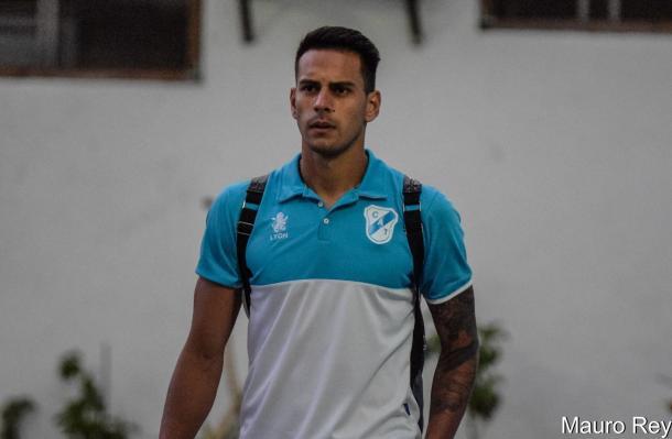 El jugador nacido en Santa Fe por primera vez era convocado por primera vez para el primer equipo frente a San Martín de San Juan. Foto | Mauro Rey