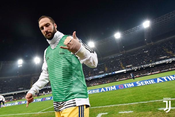 Higuaín tras finalizar el encuentro en San Paolo / Foto: Juventus