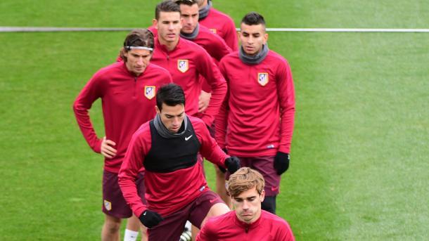 L'allenamento dell'Atletico. Fonte foto: it.uefa.com
