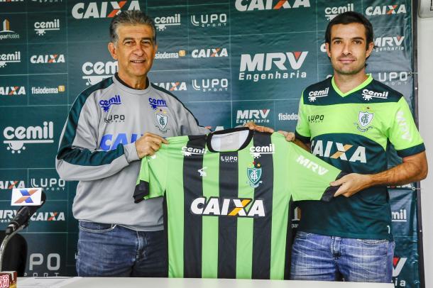 Campeão da série-b em 2012, David chega para dar mais experiência ao elenco do Coelho. (Foto: Panda Mourão/América-FC