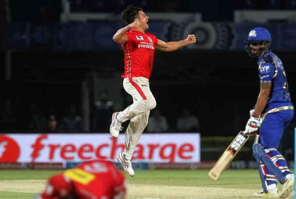 Stoinis celebrates one of his four wickets | Photo: BCCI