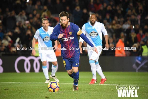Leo Messi no consiguió marcar en el último encuentro contra el Deportivo, pese a hacer tres palos y tener un penalti a favor   Foto: Noelia Déniz - VAVEL
