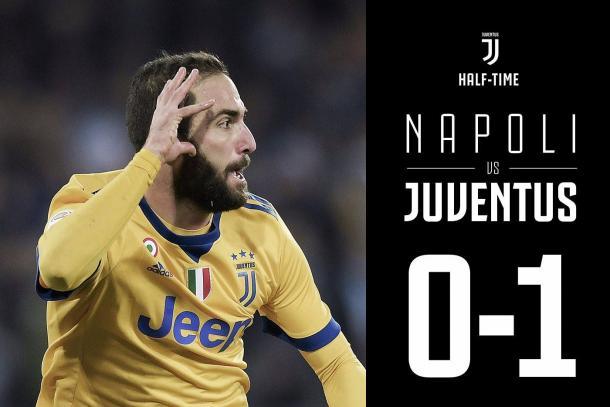 Higuaín abrió la lata en el que fue su estadio durante varias temporadas / Foto: Juventus