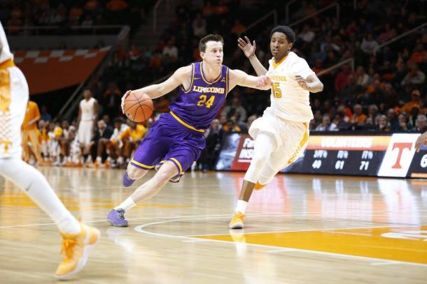 Mathews is looking to lead Lipscomb to their first-ever NCAA Tournament appearance/Photo: Atlantic Sun official Facebook page