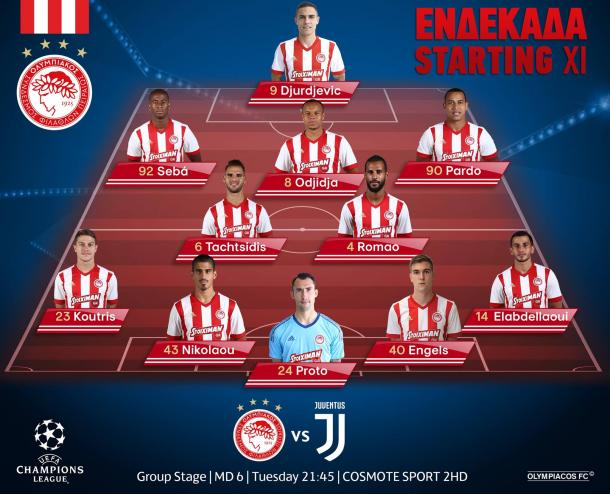 Once del Olympiacos / Foto: Olympiacos