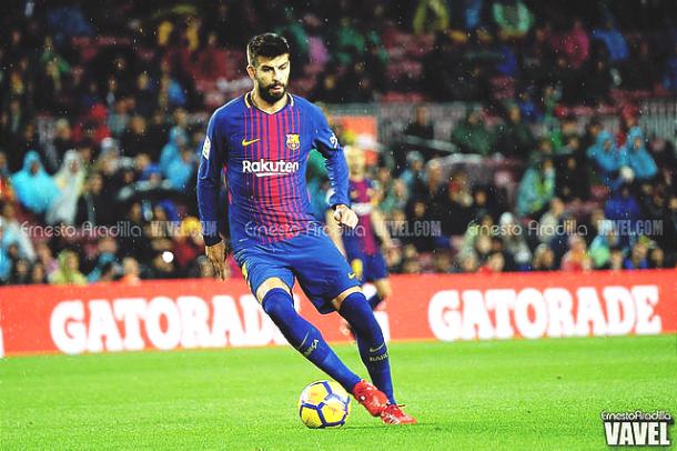Gerard Piqué con el FC Barcelona. | Foto: Ernesto Ardilla, VAVEL
