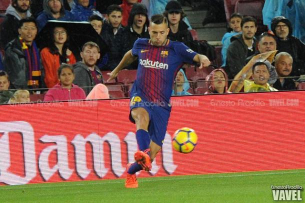Jordi Alba en un partido con el F.C Barcelona esta temporada I Foto: Ernesto Aradilla (VAVEL)