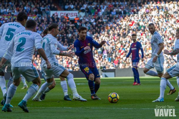 Leo Messi ante el Real Madrid. Foto: Dani Nieto, VAVEL.com