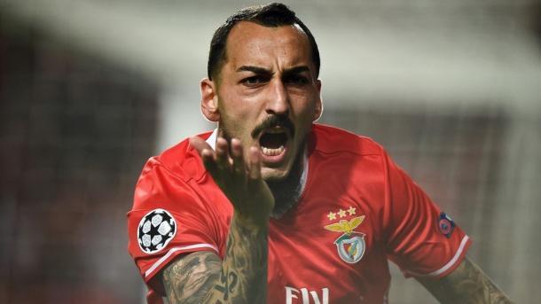 Kostas Mitroglou marcou o único golo da primeira-mão na luz | Foto: Site Oficial Liga dos Campeões