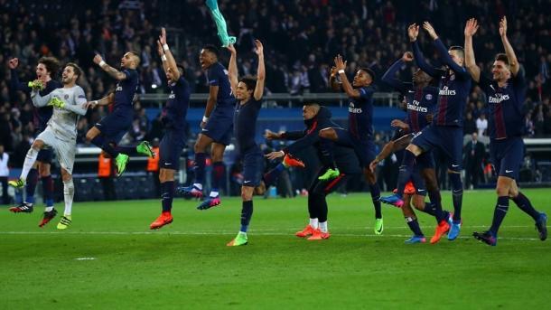 Os homens do PSG festejaram uma goleada no passado dia 14 | Foto: Site Oficial Liga dos Campeões