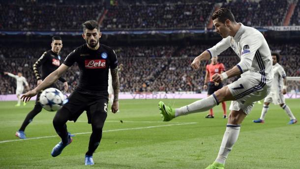 CR7 não marcou na recepção ao Nápoles, mas a equipa acabou por vencer | Foto: Site Oficial Liga dos Campeões