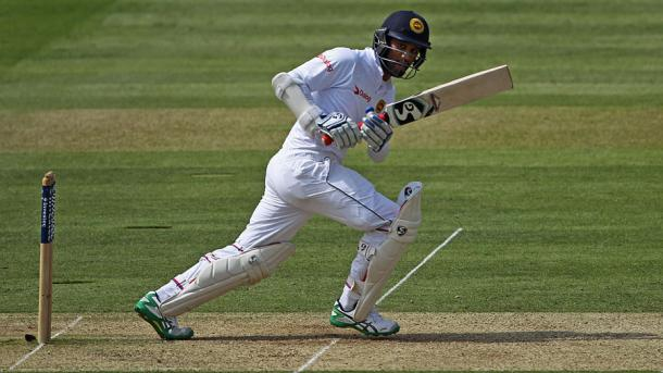 karunaratne hit his first half century of the series | Photo: Getty