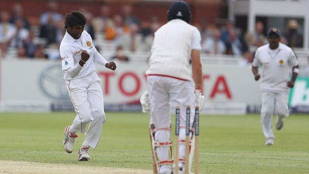 Pradeep celebrates the wicket of Root | Photo: Getty