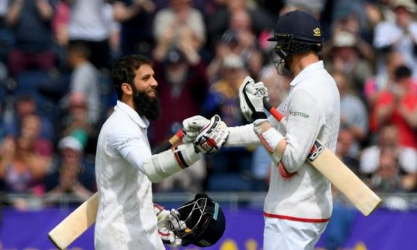 Moeen Ali celebrates his second Test century | Photo: Getty