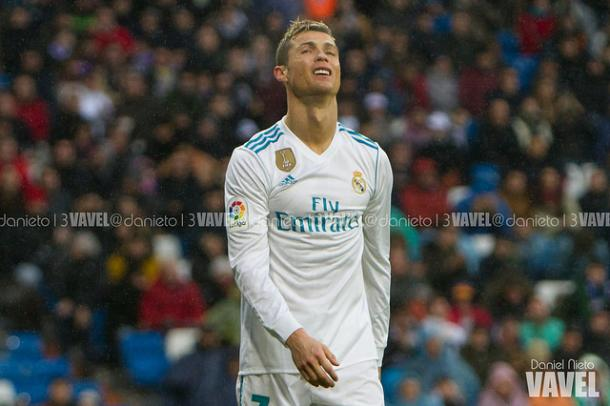 Cristiano Ronaldo, desesperado. // Foto: Daniel Nieto (VAVEL)