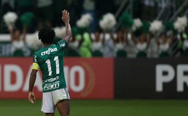 Zé Roberto se despediu do futebol nesta segunda-feira pelo Palmeiras contra o Botafogo (Foto: Cesar Greco/Ag Palmeiras/ Divulgação)