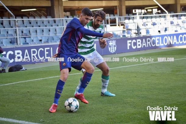 Rafa Mujica reapareció en la UEFA Youth League tras su larga lesión.   Foto: Noelia Déniz, VAVEL