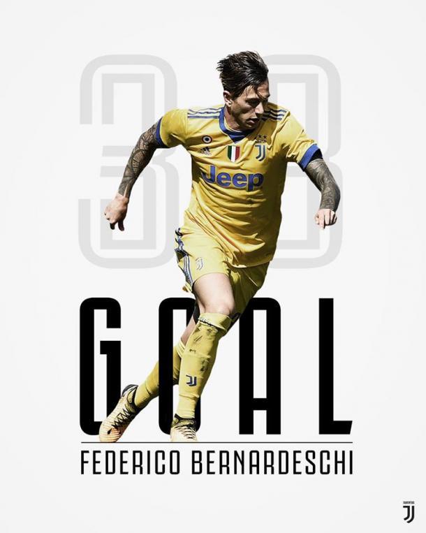 Bernardeschi anota el segundo gol del encuentro / Foto: Juventus