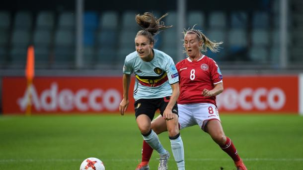 Tessa Wullaert could not give her team the goal they searched for | Source: uefa.com
