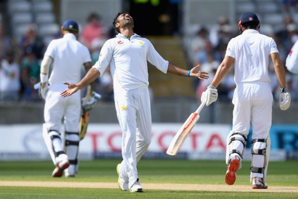 Sohail Khan celebrates the wicket of Cook | Photo: Getty