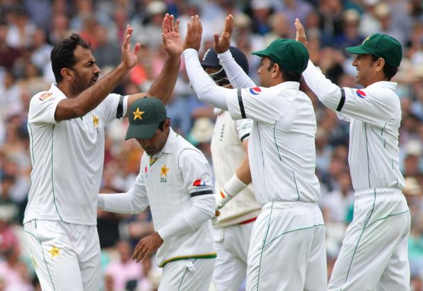 Wahab Riaz celebrates on his way to three wickets | Photo: Getty Images