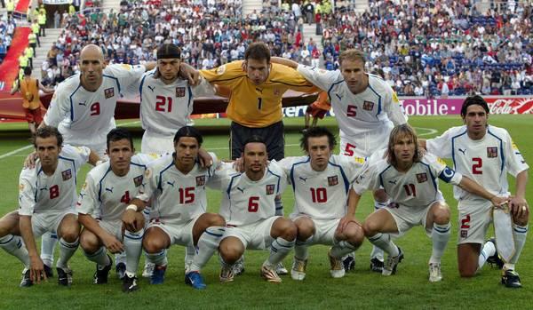 La corazzata ceca a Euro 2004. Una Nazionale piena di campioni. Fonte: Getty Images.