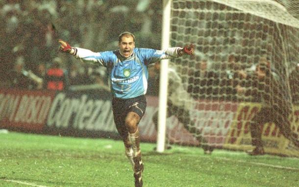 Marcos comemora cobrança de Zapata desperdiçada que deu título ao Palmeiras (foto: Divulgação)