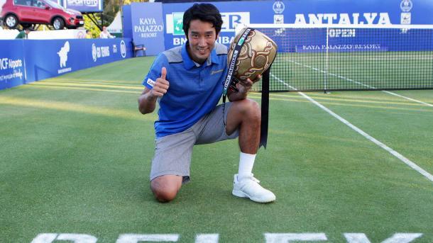 Yuichi Sugita won the title last year on grass in Turkey. Photo: ATP World Tour