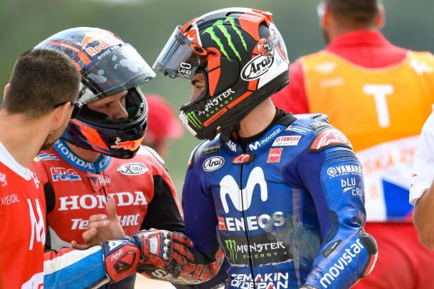 Viñales, después de su caída en Brno en 2018. Imagen: MotoGP
