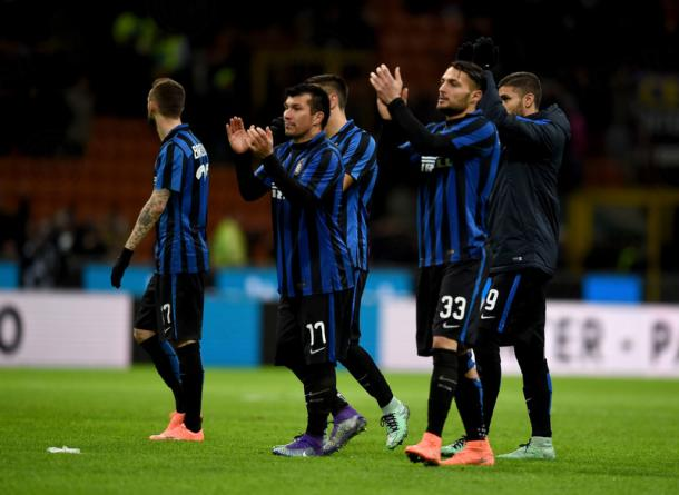Il saluto a fine gara (foto Inter.it)