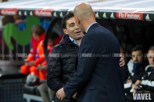 Asier garitano junto a Zinedine Zidane | Foto: Daniel Nieto (VAVEL)
