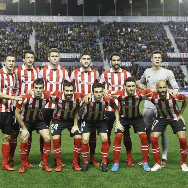 Una de las alineaciones del Athletic Club de Bilbao. Fuente: athleticclubdebilbao.com