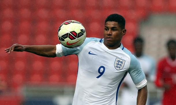 Rashford is the youngest England player to score on debut (Photo: Getty Images)